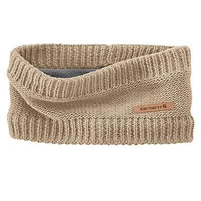 Carhartt Women's Light Khaki Knit Fleece-Lined Headband