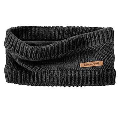 Carhartt Women's Black Knit Fleece-Lined Headband