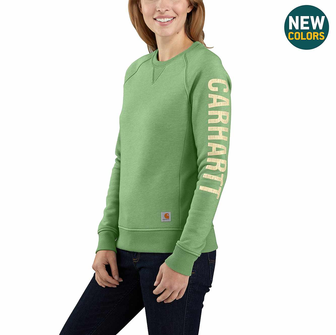 Picture of Carhartt® Relaxed Fit Midweight Crewneck Carhartt Graphic Sweatshirt in Boreal Heather
