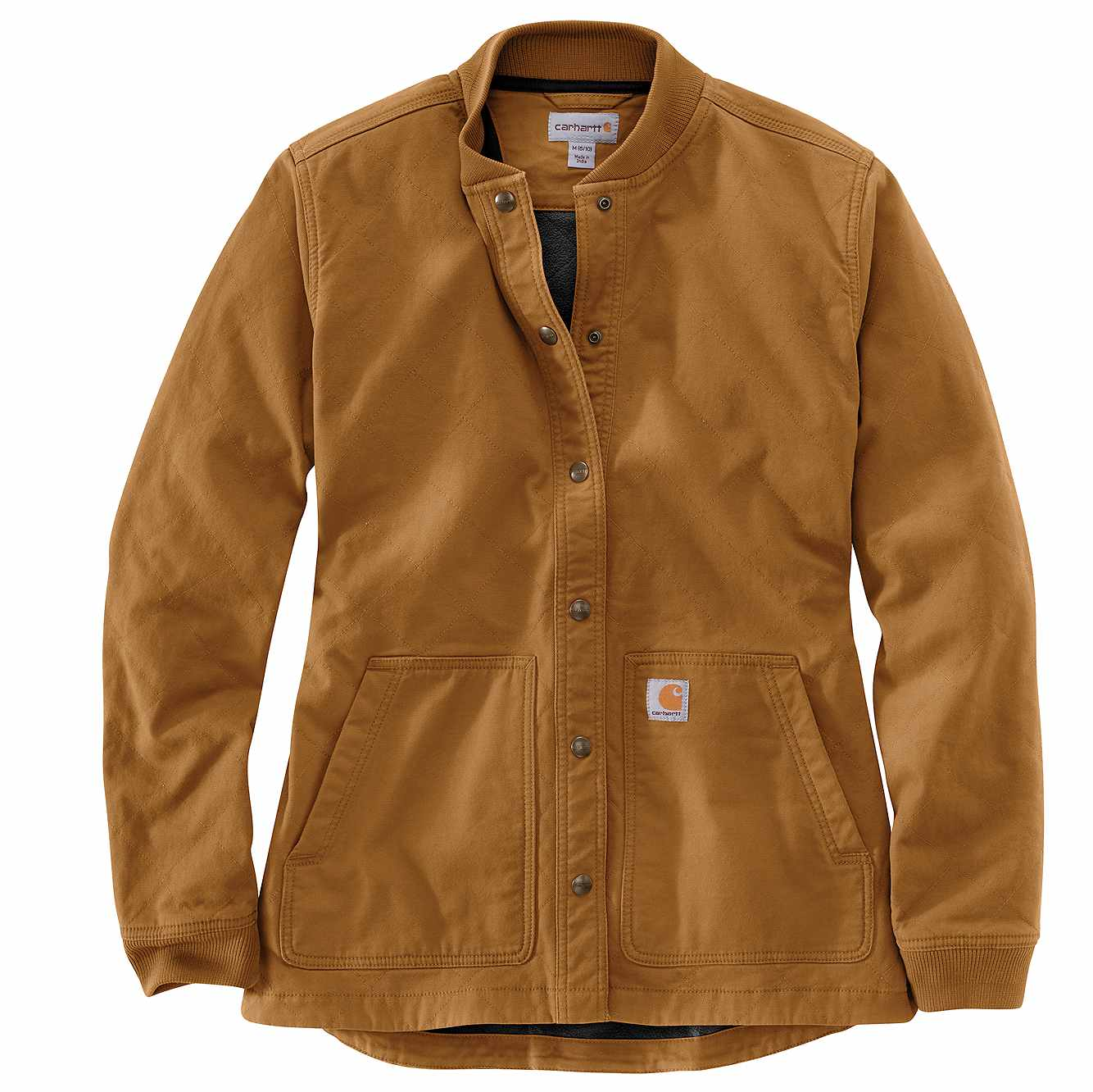 Picture of Carhartt® Relaxed Fit Canvas Snap Front Rib Collar Shirt Jac in Carhartt Brown