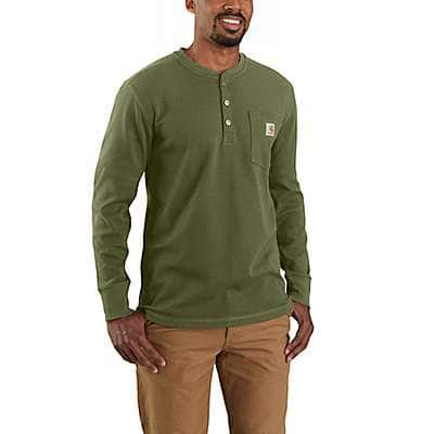 Carhartt Men's Basil Relaxed Fit Heavyweight Long-Sleeve Henley Pocket Thermal Shirt