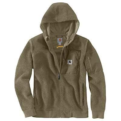 Carhartt Men's Burnt Olive Carhartt® Yukon Extremes® Wind Fighter® Fleece Active Jac