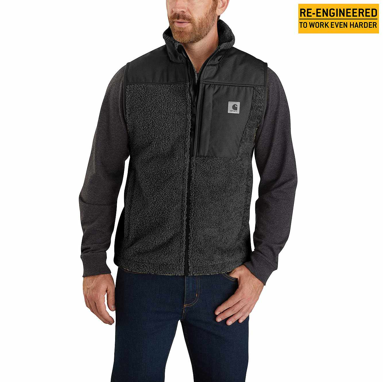 Picture of Carhartt® Yukon Extremes® Wind Fighter® Fleece Vest in Black