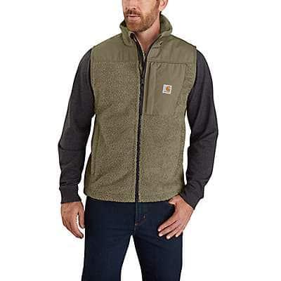 Carhartt Men's Burnt Olive OV4515 M Extrems WF RlxdFit Flc Vest