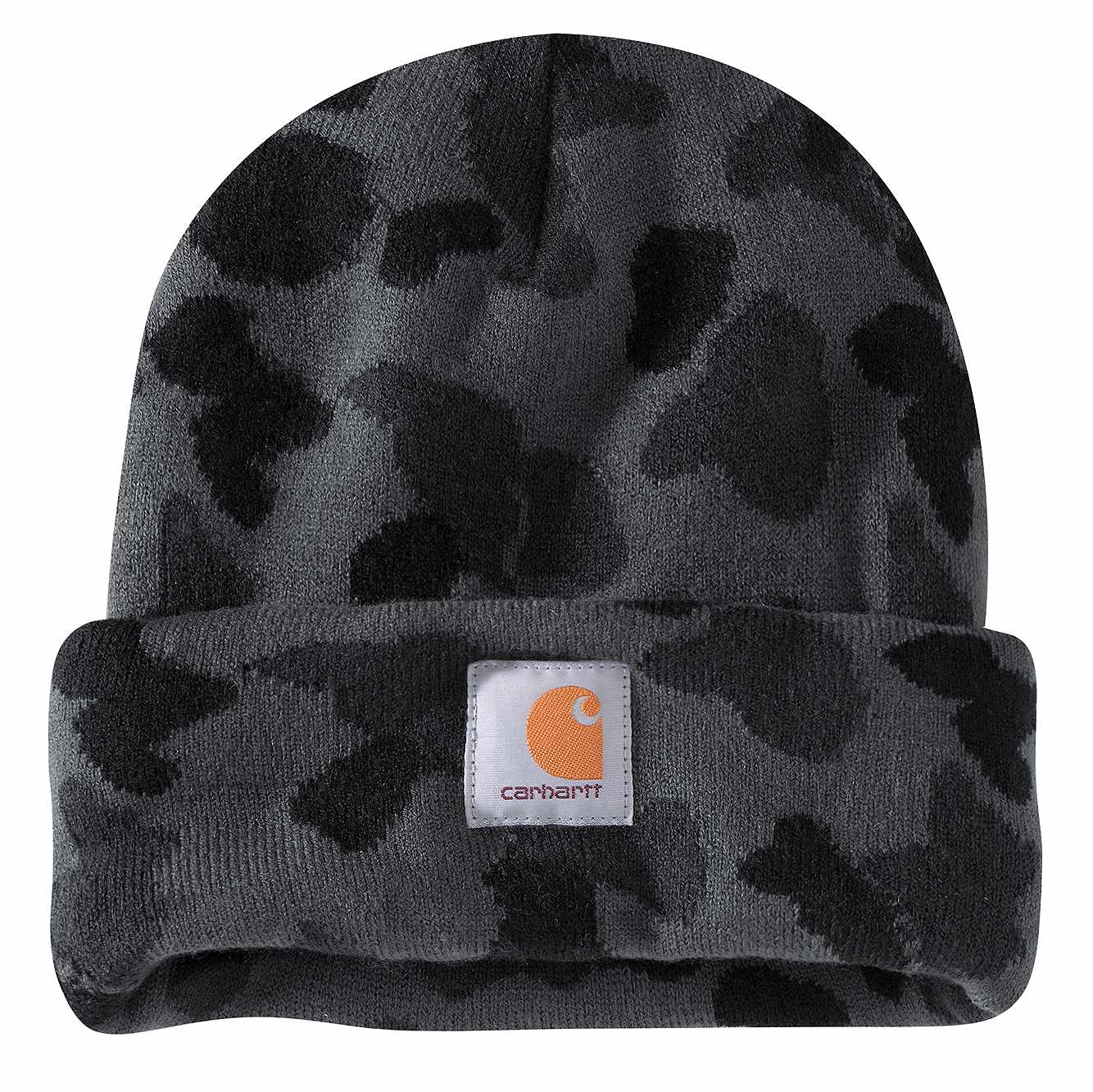Picture of Carhartt® Knit Camo Beanie in Black Duck Camo