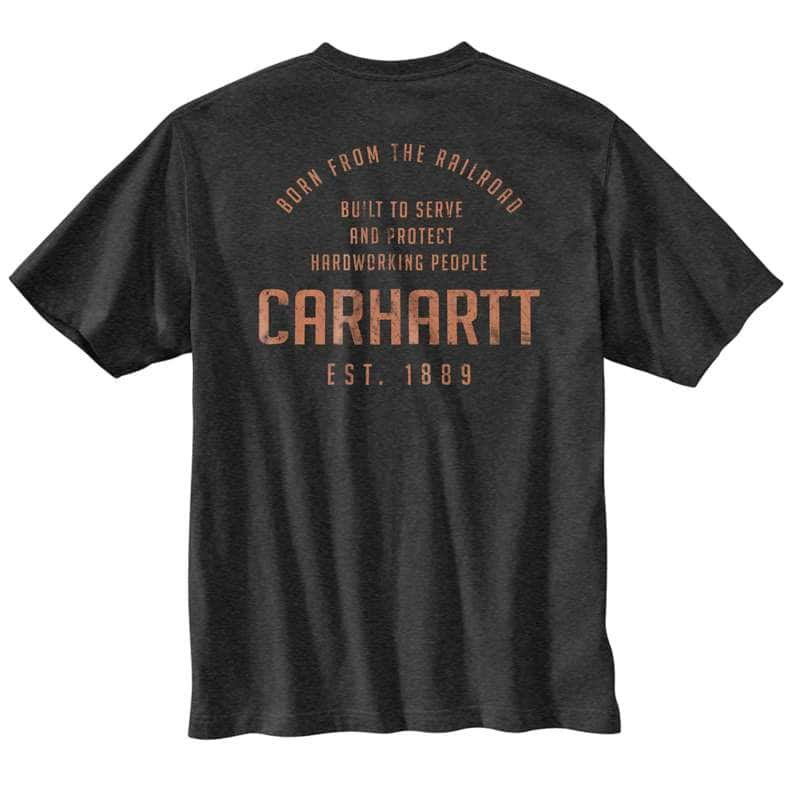 Carhartt  undefined Loose Fit Heavyweight Short-Sleeve Pocket Railroad Graphic T-Shirt