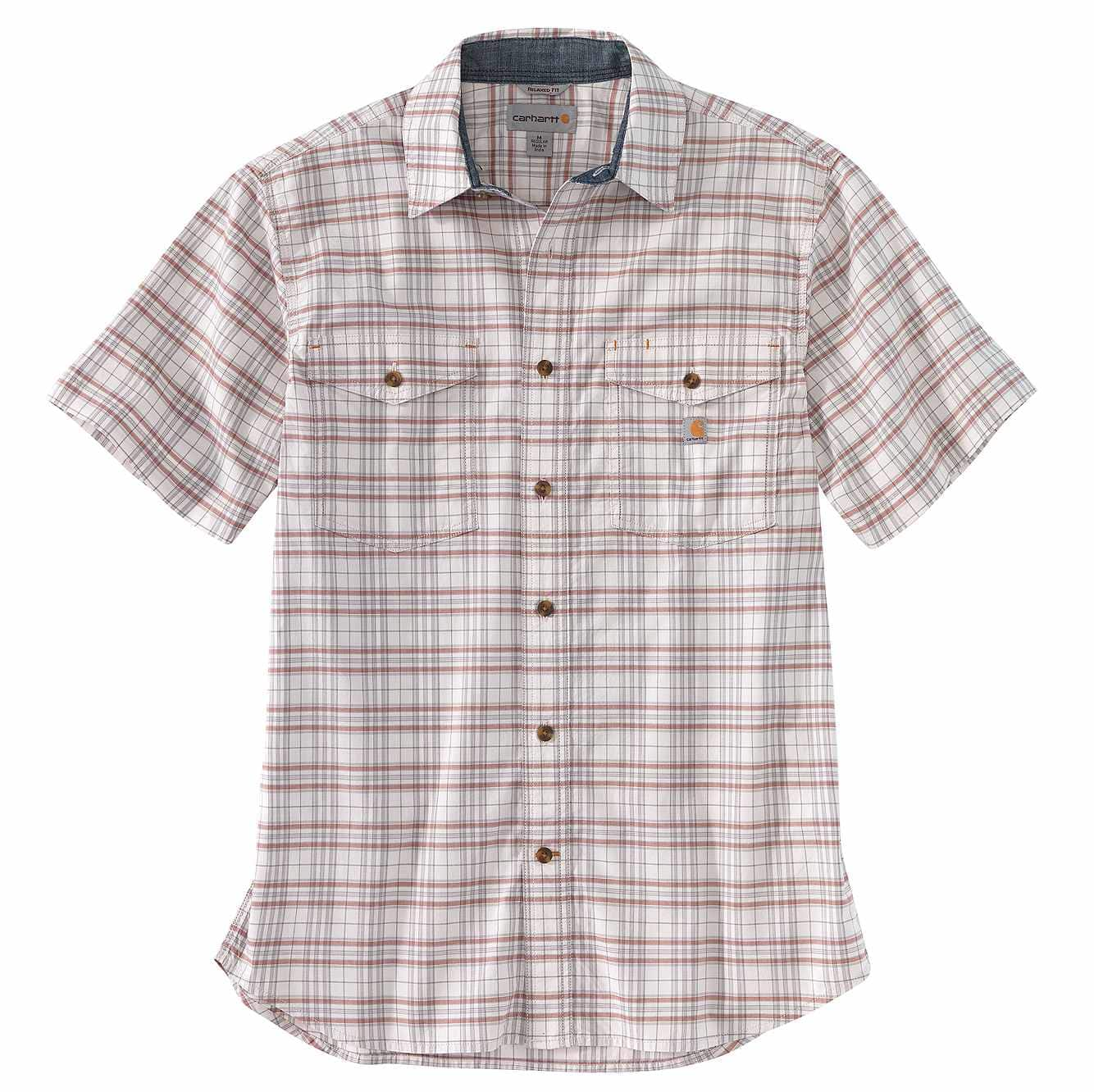 Picture of Rugged Flex® Relaxed Fit Lightweight Short-Sleeve Plaid Shirt in Malt