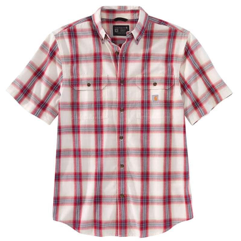 Carhartt  Ruby Loose Fit Midweight Chambray Short-Sleeve Plaid Shirt