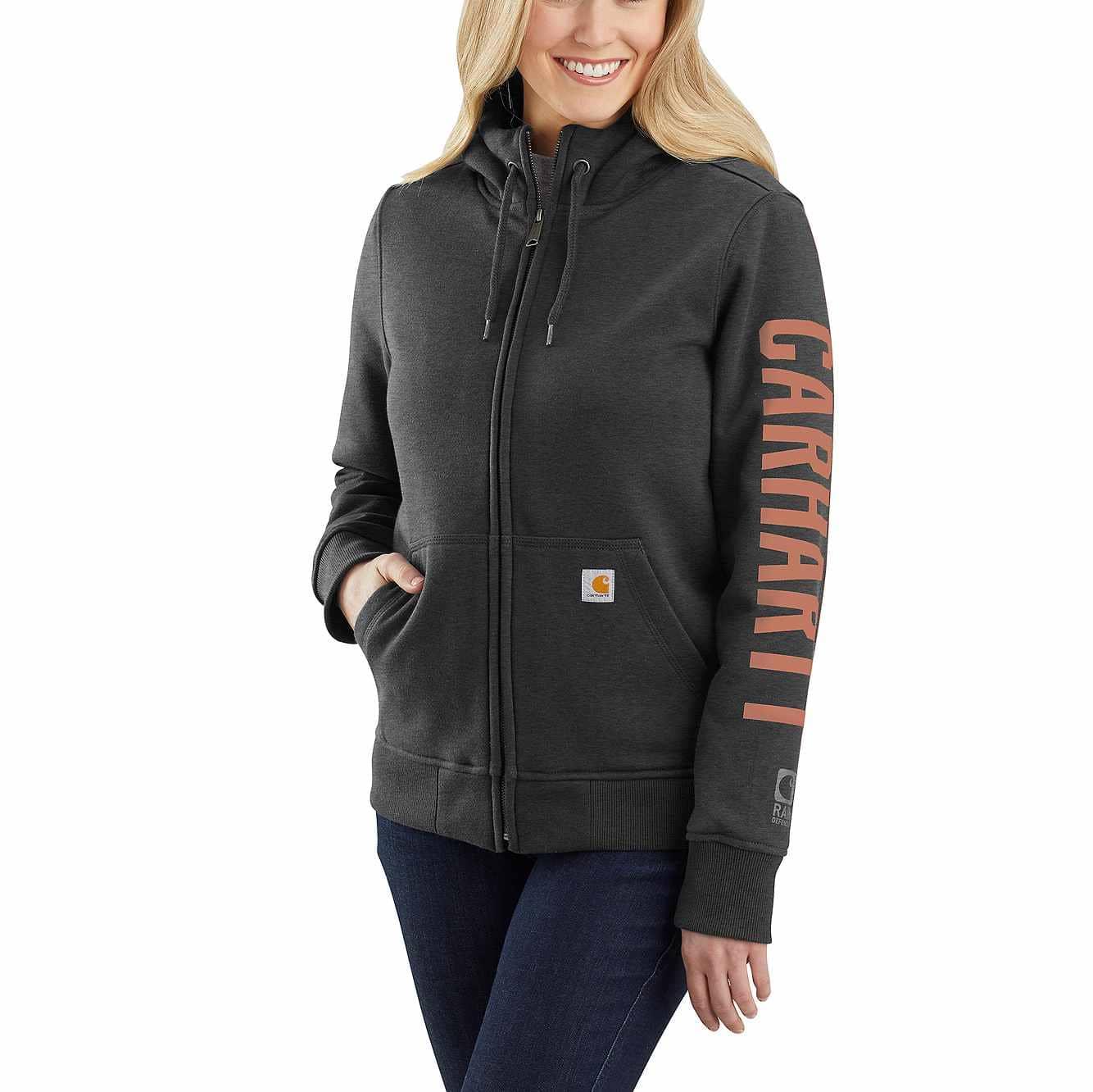 Picture of Rain Defender Original Fit Fleece Lined Logo Graphic Sweatshirt in Carbon Heather