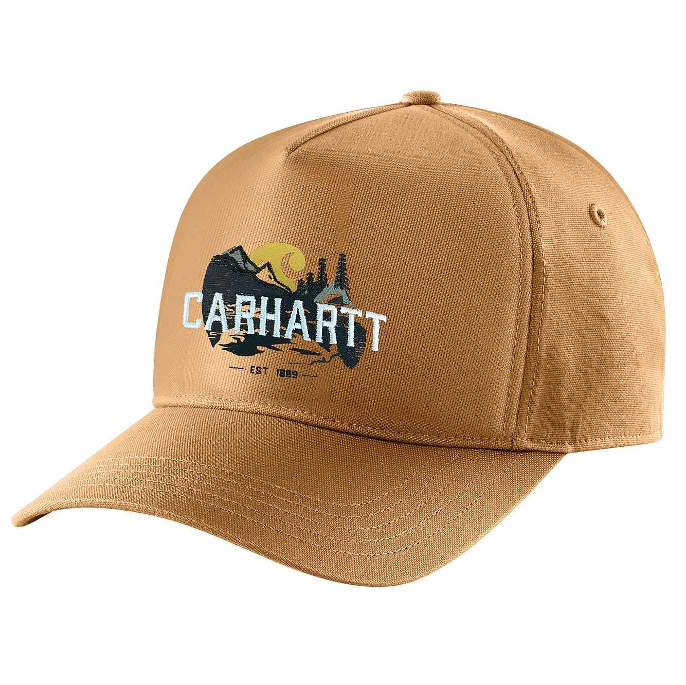 Picture of Canvas Outdoor Graphic Cap in Carhartt Brown