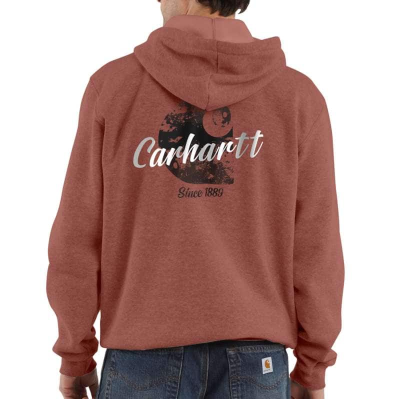 Carhartt  Auburn Heather Loose Fit Midweight Hooded Carhartt C Graphic Sweatshirt