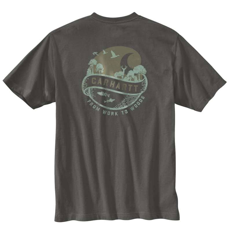 Carhartt  undefined Loose Fit Heavyweight Short-Sleeve Pocket Woods Graphic T-Shirt