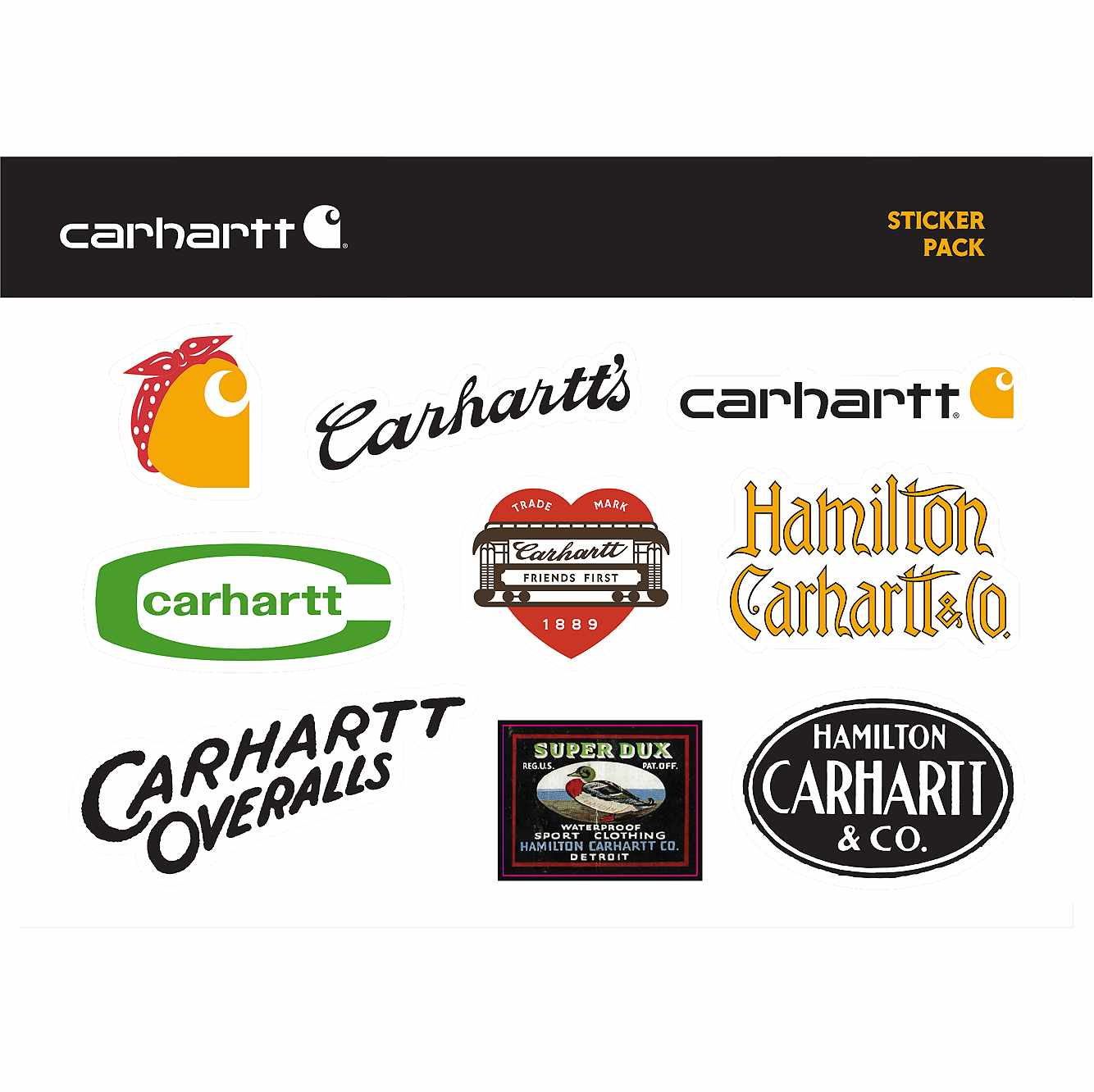Picture of Carhartt Heritage Sticker Sheet in No Color