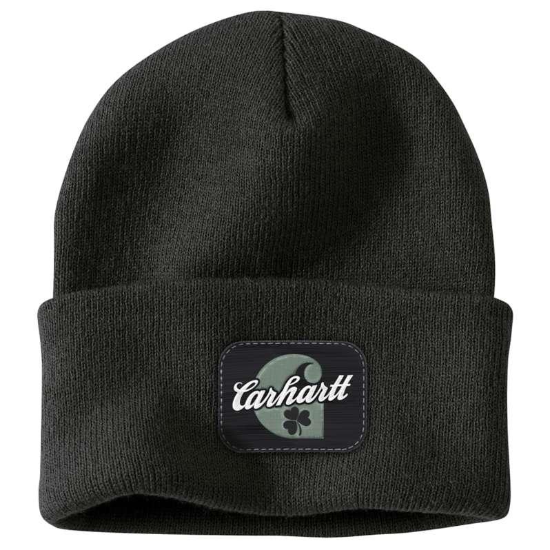 Carhartt  Black St. Patrick's Acrylic Watch Hat