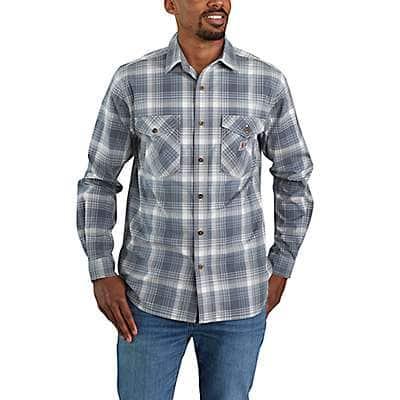 Carhartt Men's Bluestone Rugged Flex® Relaxed Fit Lightweight Long-Sleeve Plaid Shirt