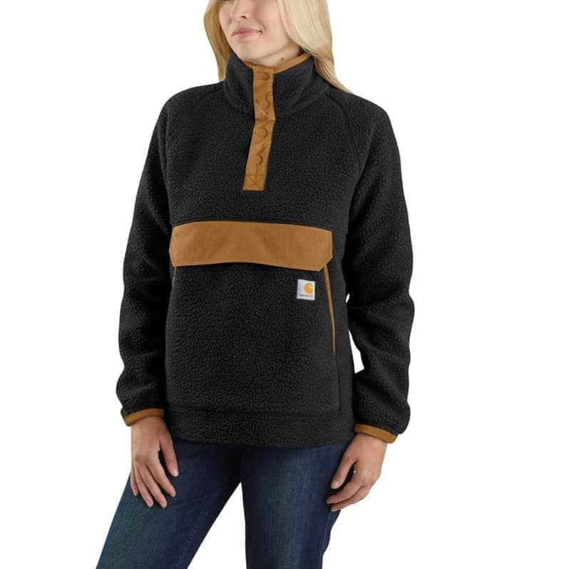 Carhartt  Black Relaxed Fit Fleece Pullover