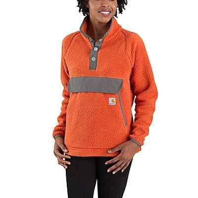 Carhartt Women's Earthen Clay Relaxed Fit Fleece Pullover