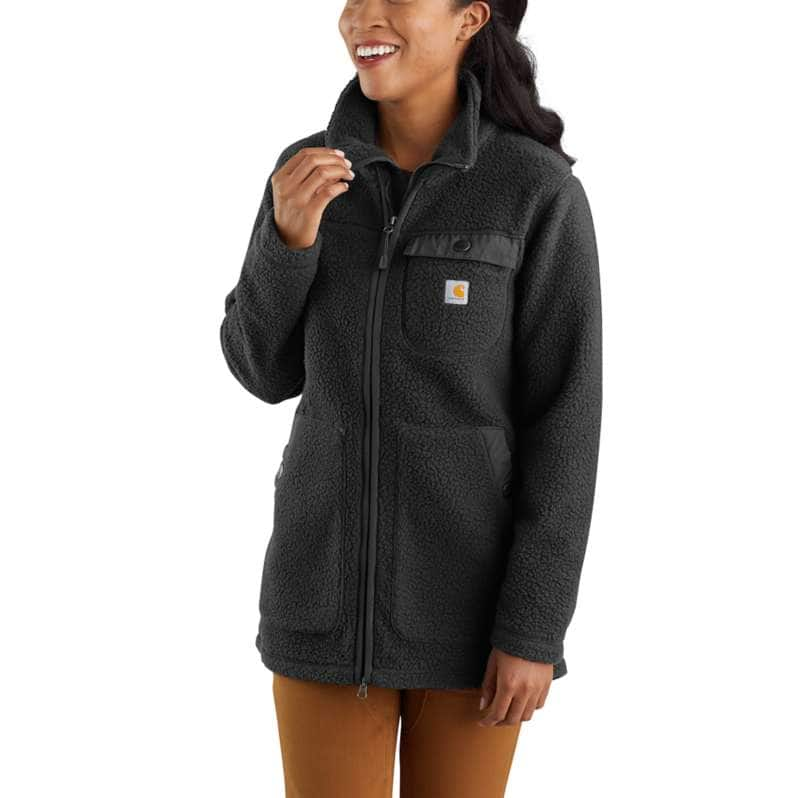 Carhartt  Black OC4923 W RlxdFit Flc Coat