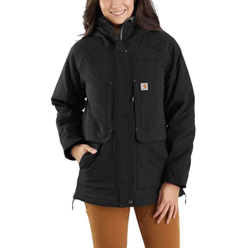 Carhartt  Black OC5002 W Super Dux RlxdFit Ins Coat
