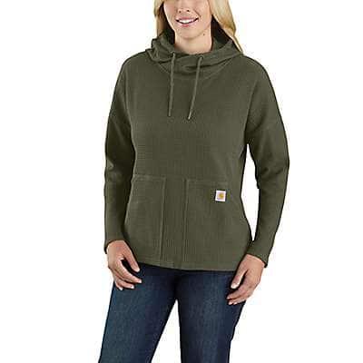 Carhartt Women's Basil Relaxed Fit Heavyweight Long-Sleeve Hooded Thermal Shirt