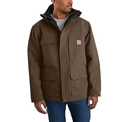 Carhartt Men's Coffee Super Dux™ Relaxed Fit Insulated Traditional Coat