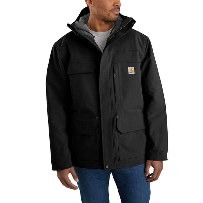 Carhartt  Black Super Dux™ Relaxed Fit Insulated Traditional Coat