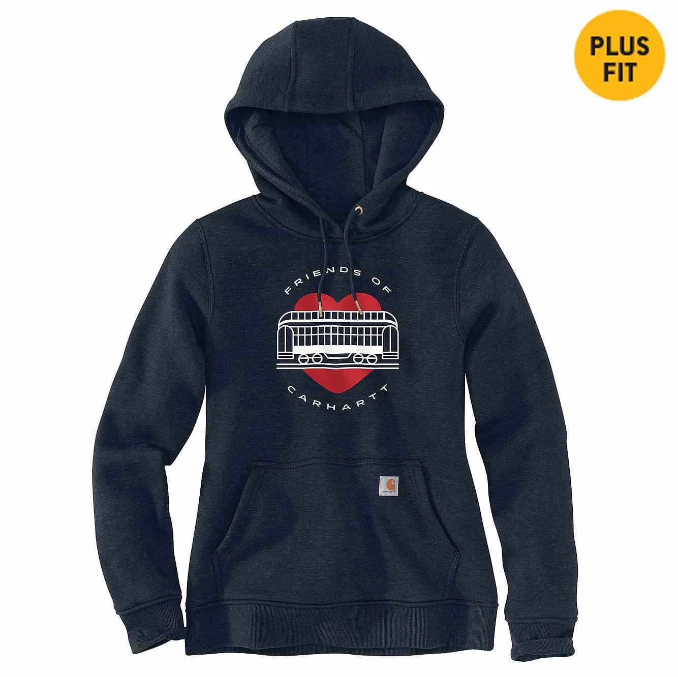 Picture of Women's Relaxed Fit Friends of Carhartt Sweatshirt in Navy