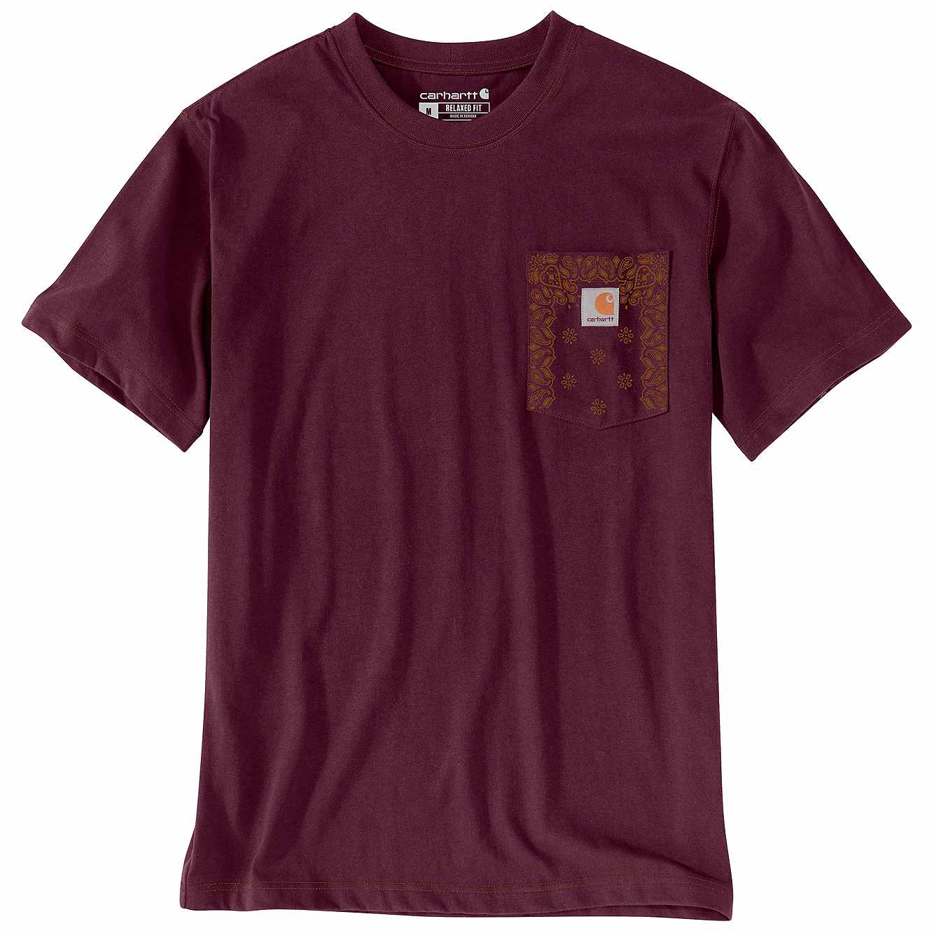 Picture of Relaxed Fit Heavyweight Short-Sleeve Pocket Print T-Shirt in Port