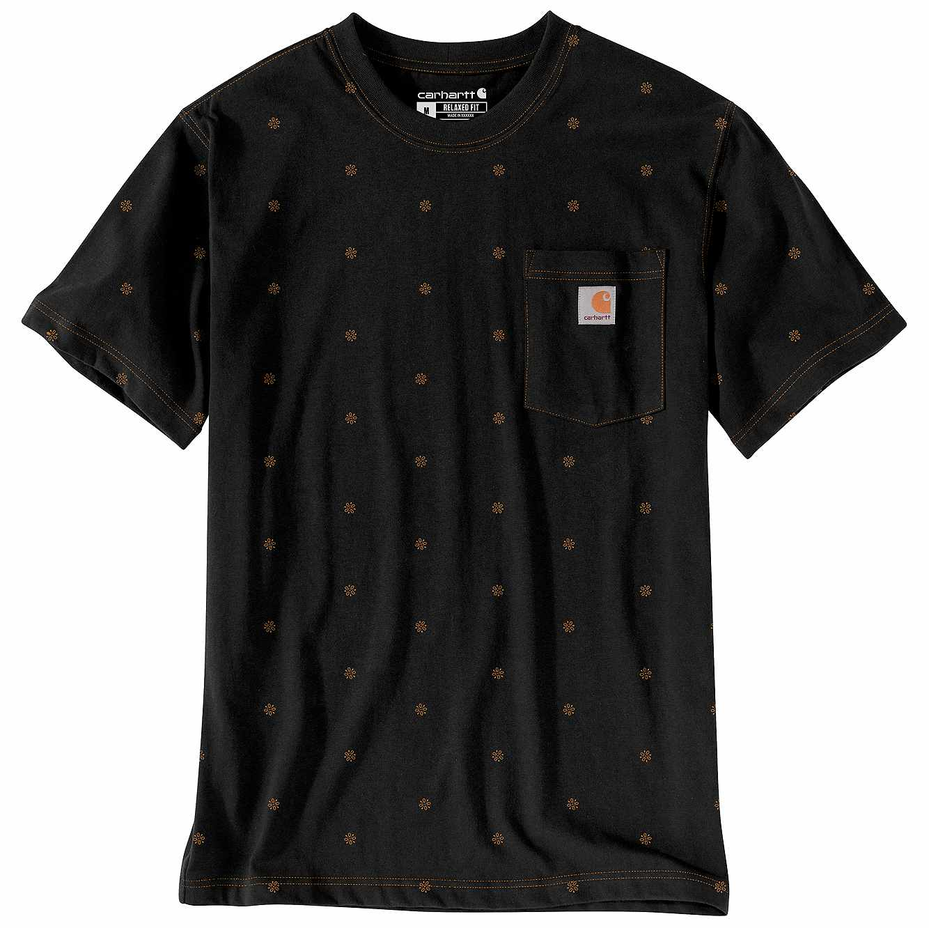 Picture of Relaxed Fit Heavyweight Short-Sleeve Pocket Dot T-Shirt in Black