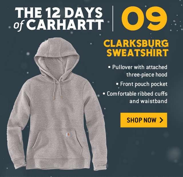 clarksburg sweatshirt, pullover with attached three piece hood