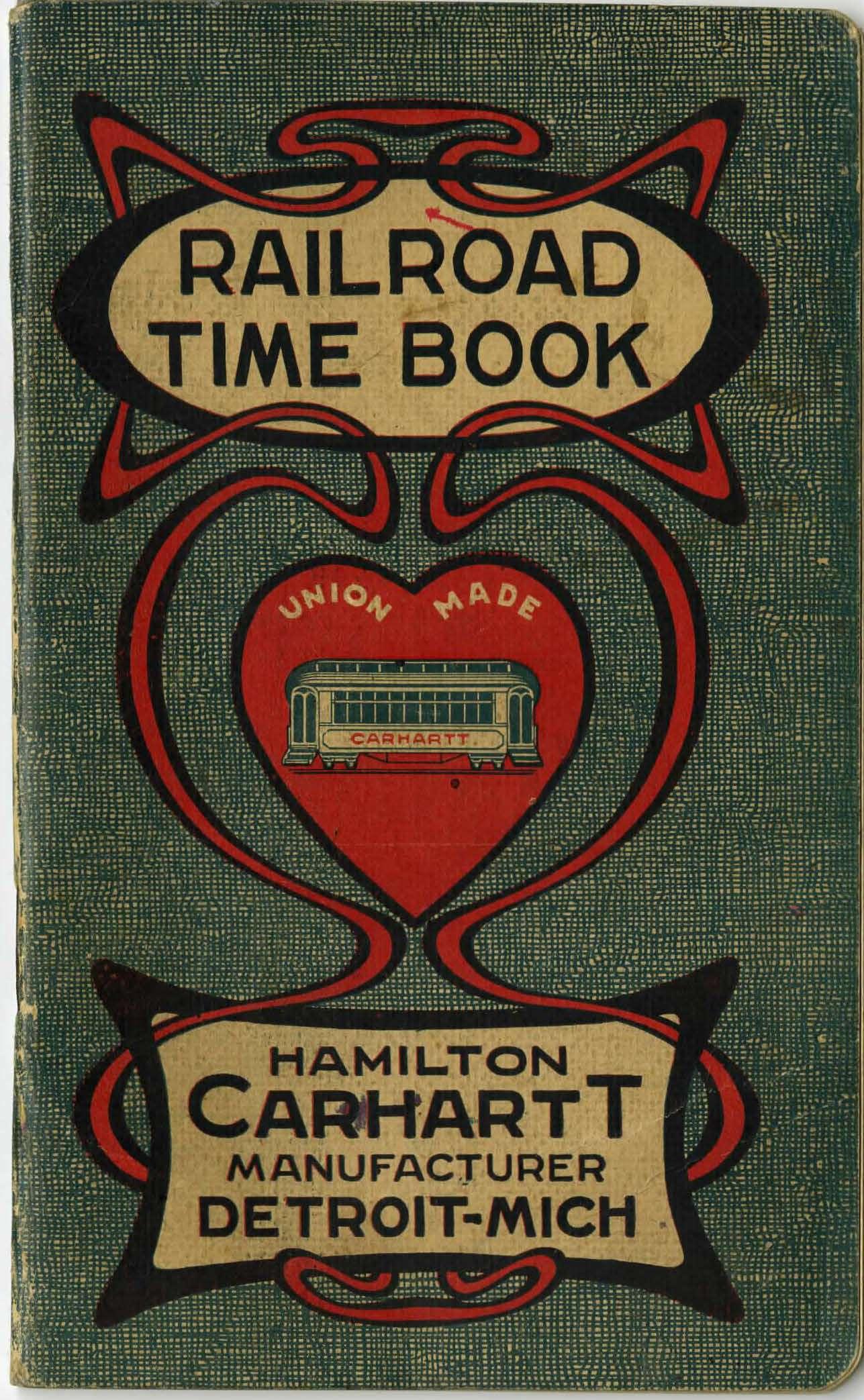 Railroad Time Book, circa 1903