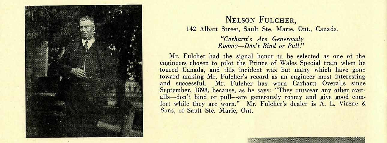Product feedback from Canada, c.1922