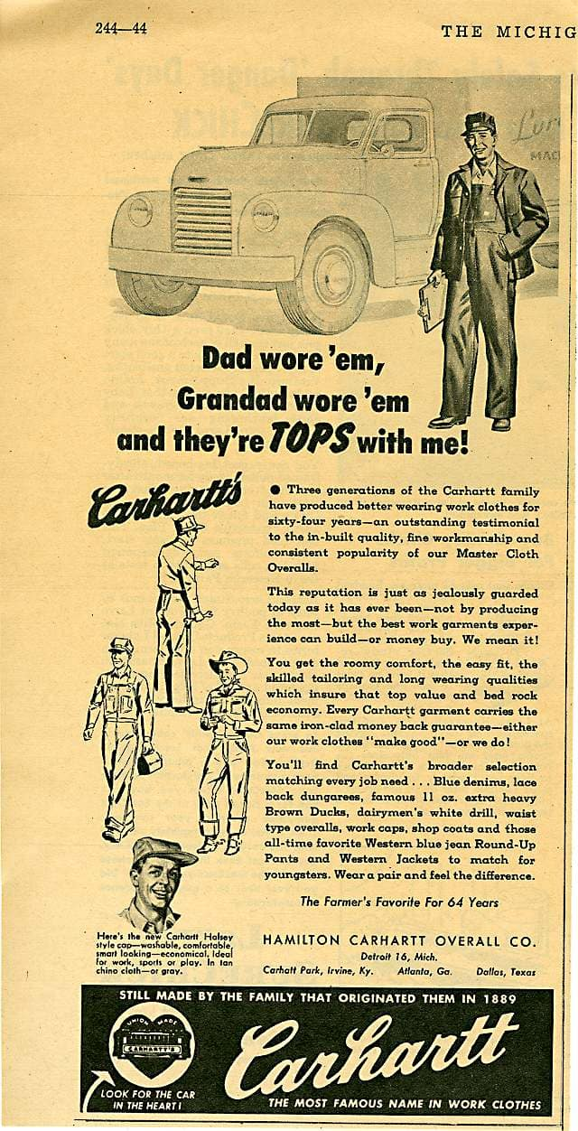 Michigan Farmer advertisement, circa 1953