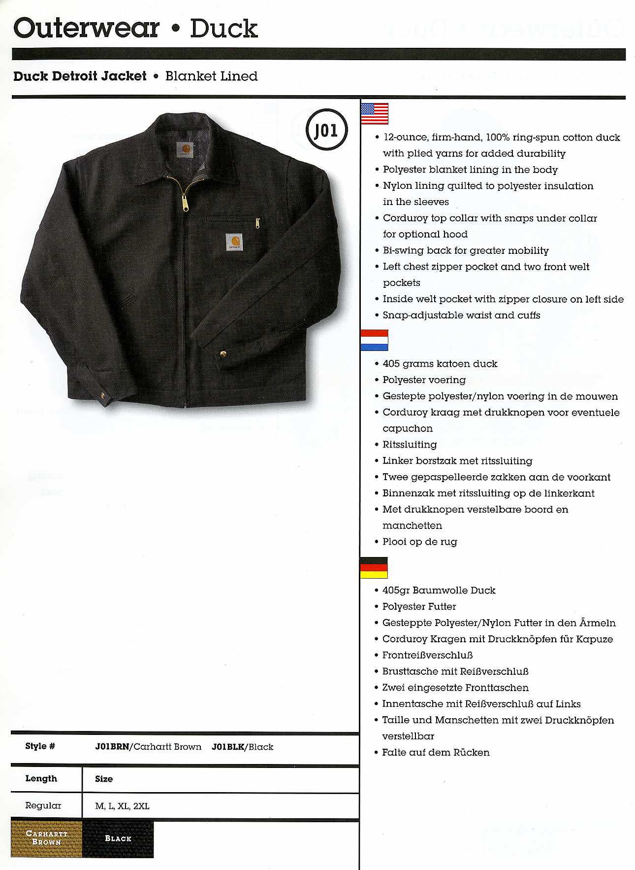 Carhartt Europe catalog, 2005