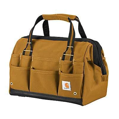 "Carhartt Unisex Carhartt Brown Legacy 14"" Tool Bag - front"