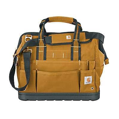 """Carhartt Unisex Carhartt Brown Legacy 16"""" Tool Bag with Molded Base - front"""