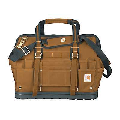 "Carhartt Unisex Carhartt Brown Legacy 18"" Tool Bag with Molded Base - front"