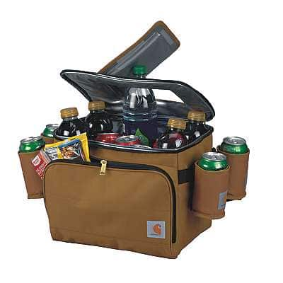 Carhartt Unisex Carhartt Brown Deluxe Cooler with Beverage Sleeves - front