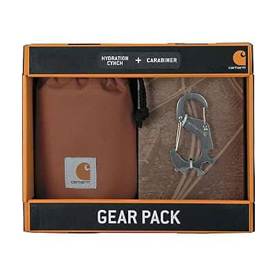 Carhartt Unisex Carhartt Brown Hydration Cinch and Carabiner Set - front