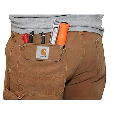 Carhartt Unisex Carhartt Brown Work Pocket - back