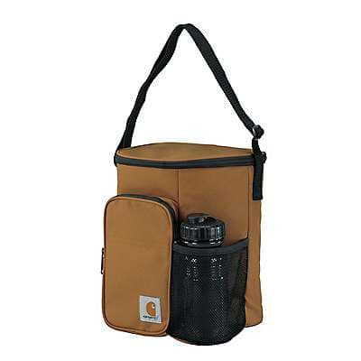 Carhartt  Carhartt Brown Vertical Lunch Cooler with Water Bottle - front
