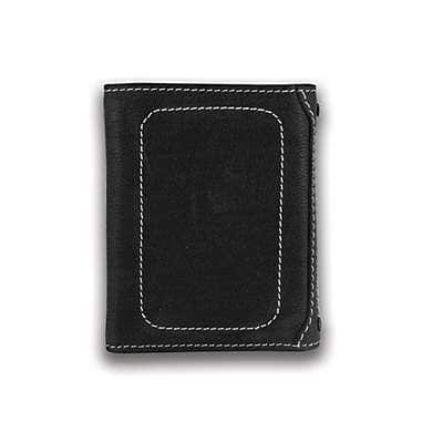 Carhartt Men's Black Milled Pebble Trifold Wallet - front