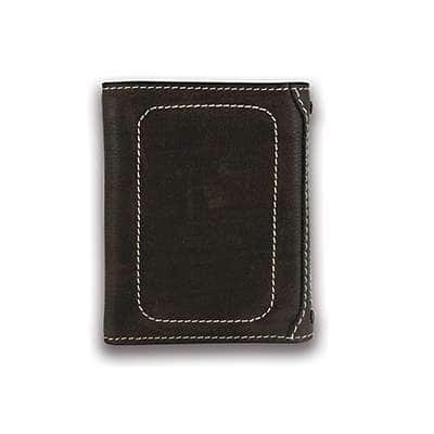 Carhartt Men's Black Milled Pebble Trifold Wallet - back