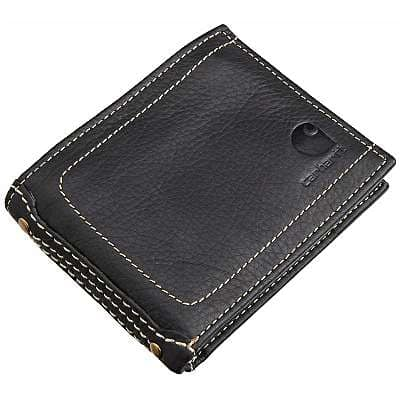 Carhartt Men's Black Passcase Wallet - front