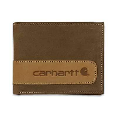 Carhartt Men's Carhartt Brown Two-Tone Billfold with Wing Wallet - front