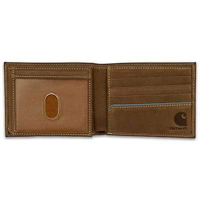 Carhartt Men's Carhartt Brown Two-Tone Billfold with Wing Wallet - back