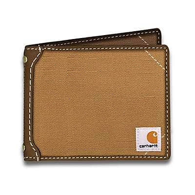 Carhartt Men's Carhartt Brown Canvas Passcase Wallet - front