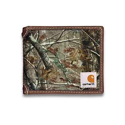 Carhartt Men's Carhartt Brown Canvas Passcase Wallet - back