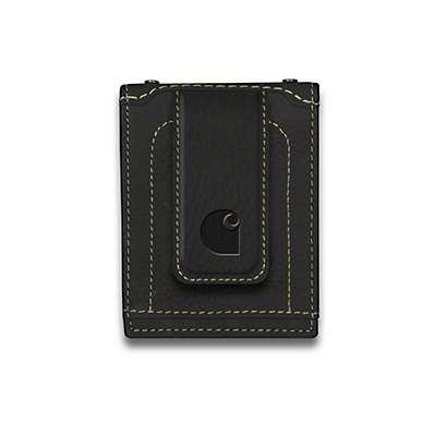 Carhartt Men's Black Magnetic Front Pocket Wallet - front