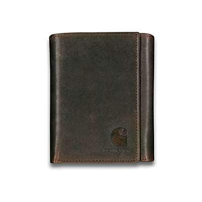 Carhartt Men's Carhartt Brown Oil Tan Trifold Wallet - front